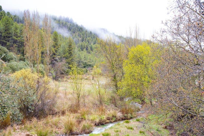 Οροσειρά del Segura Albacete, Espain Μικρό, ζωηρόχρωμο και γραφικό χωριό στην όμορφη οροσειρά del Segura, Albacete, Ισπανία στοκ εικόνες με δικαίωμα ελεύθερης χρήσης