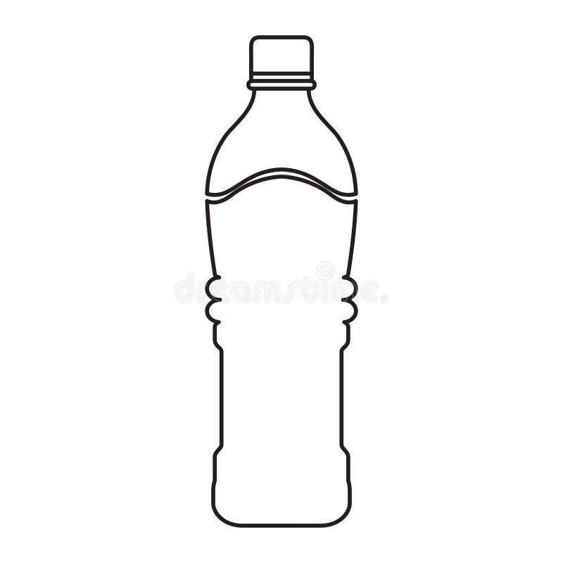 Ορυκτό μπουκάλι νερό διανυσματική απεικόνιση