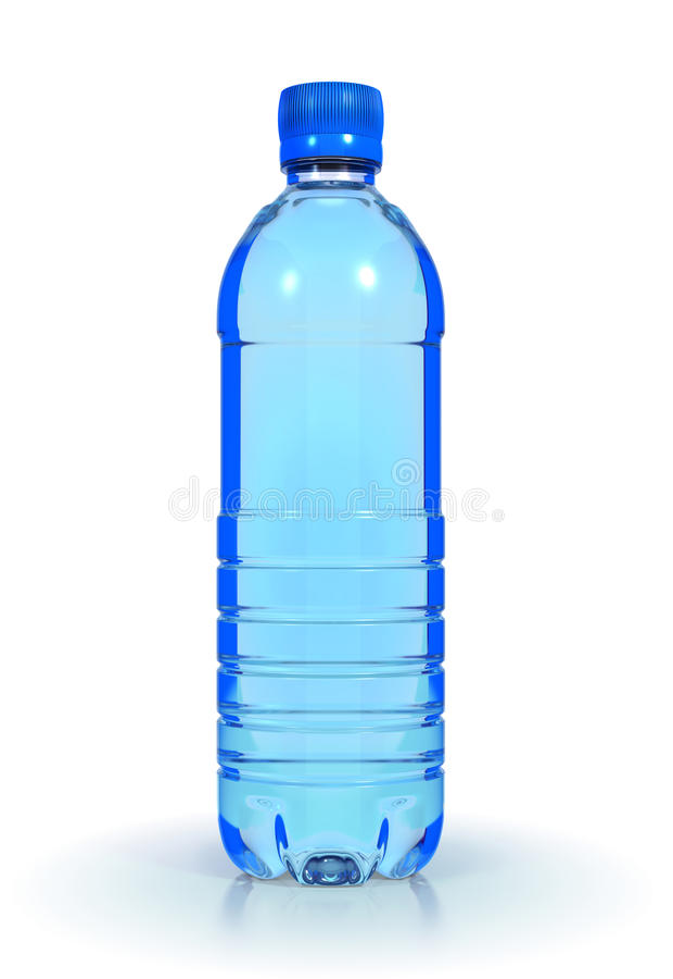 ορυκτό πλαστικό ύδωρ μπου στοκ εικόνες