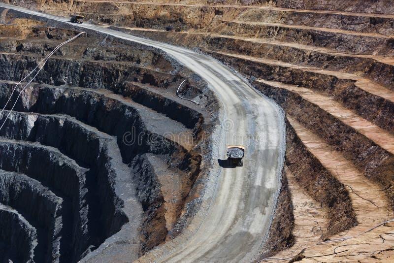 ορυχείο αποκοπών ανοικ&ta στοκ εικόνες με δικαίωμα ελεύθερης χρήσης