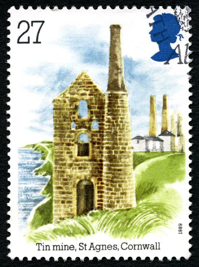 Ορυχείο κασσίτερου στο γραμματόσημο του ST Agnes UK στοκ φωτογραφίες με δικαίωμα ελεύθερης χρήσης