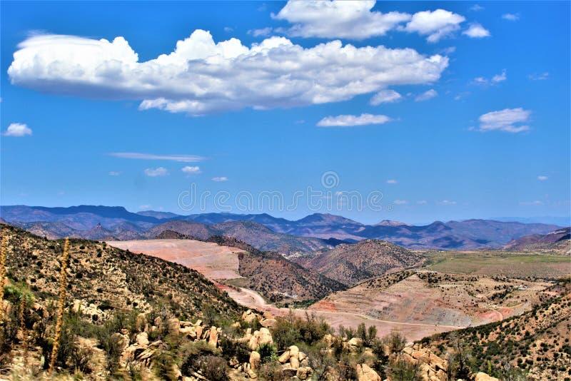 Ορυχείο Bluebird, εθνικό δρυμός Tonto, σφαίρα-Μαϊάμι περιοχή, κομητεία Gila, Αριζόνα, Ηνωμένες Πολιτείες στοκ φωτογραφία