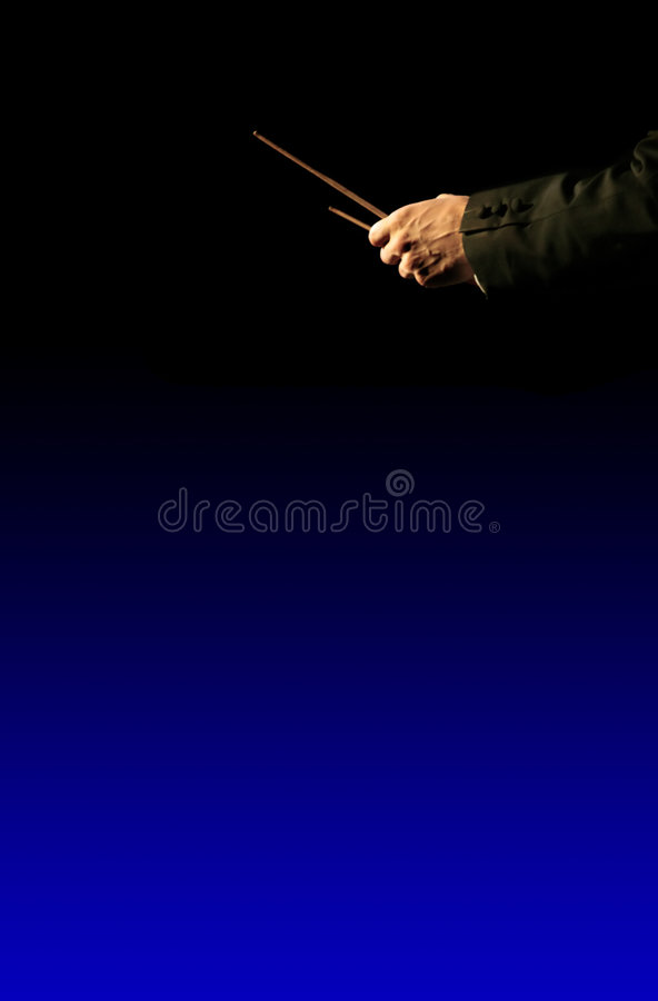 ορχήστρα μουσικής σκηνοθέτη στοκ εικόνες
