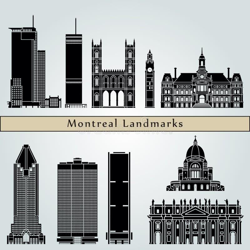Ορόσημα και μνημεία του Μόντρεαλ διανυσματική απεικόνιση