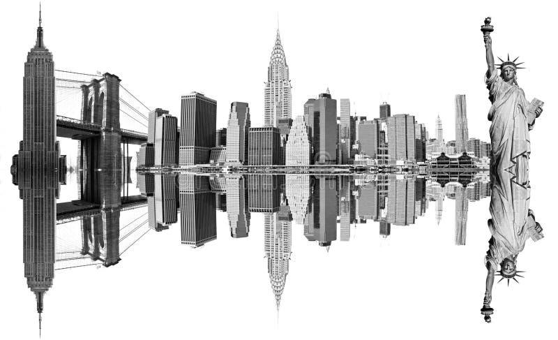 Ορόσημα πόλεων της Νέας Υόρκης, στοκ εικόνα