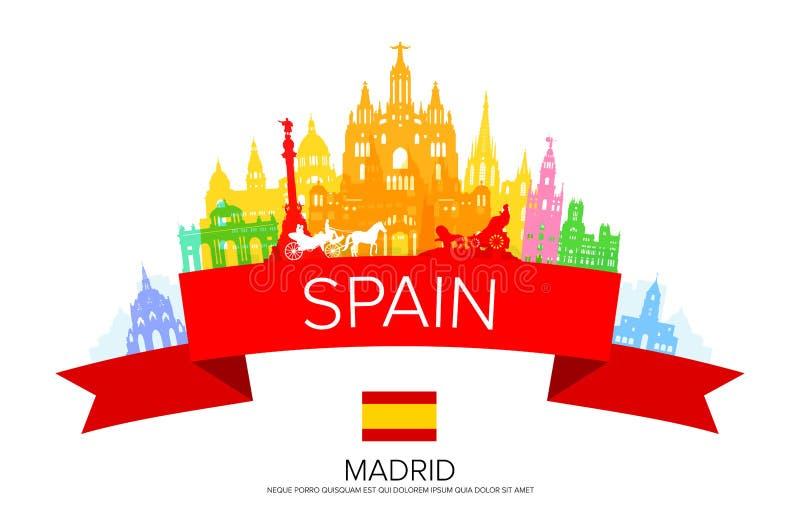 Ορόσημα ταξιδιού της Ισπανίας, Μαδρίτη ελεύθερη απεικόνιση δικαιώματος