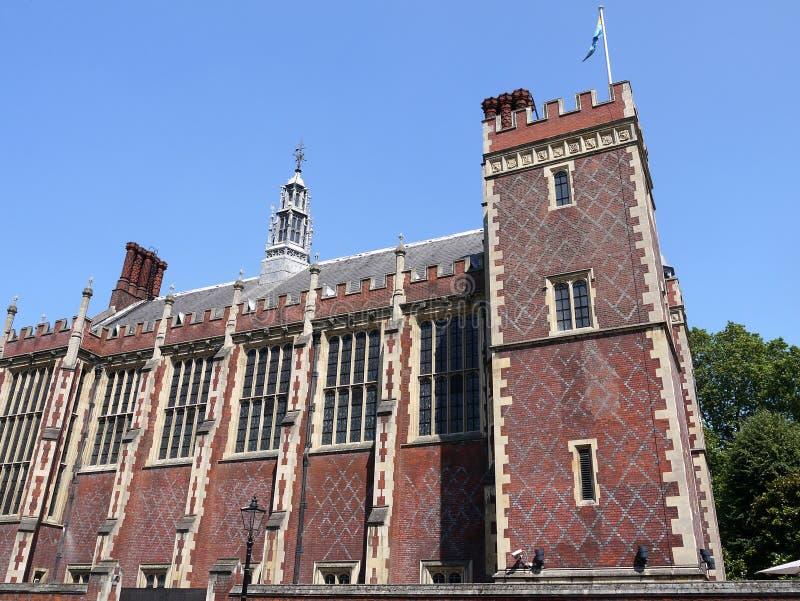 Ορόσημα του Λονδίνου: Μεγάλη αίθουσα πανδοχείων του Λίνκολν στοκ εικόνες με δικαίωμα ελεύθερης χρήσης