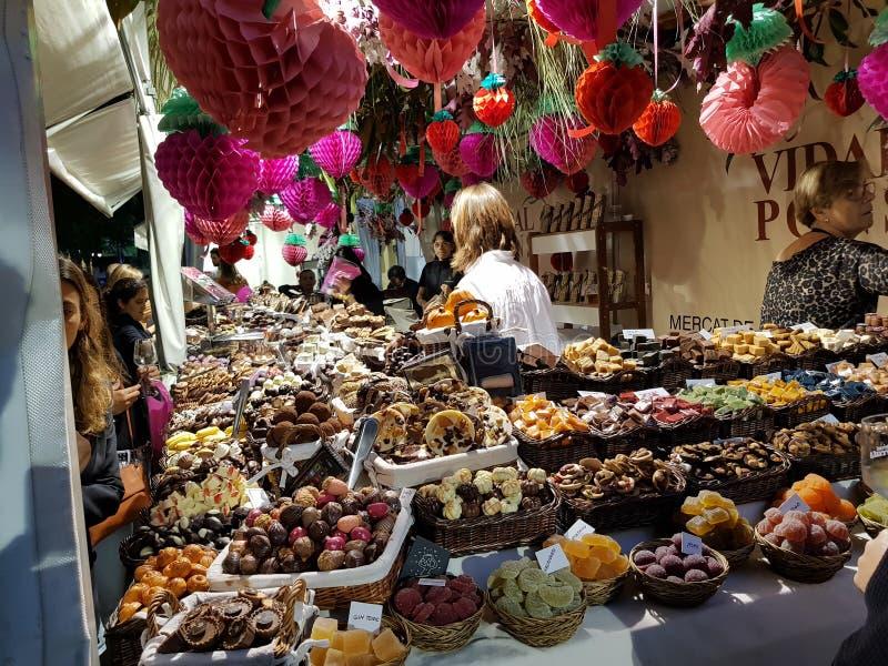 Ορόσημο της Βαρκελώνης Evrope bazar στοκ εικόνα