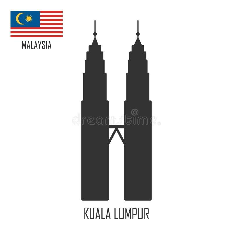 Ορόσημο της Μαλαισίας πύργοι petronas της Κουάλα Λουμπούρ απεικόνιση αποθεμάτων