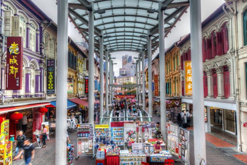 Ορόσημο της Σιγκαπούρης: Απόδοση HDR Chinatown στοκ εικόνα με δικαίωμα ελεύθερης χρήσης