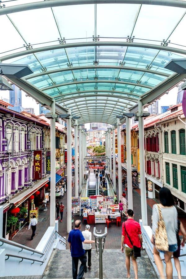 Ορόσημο της Σιγκαπούρης: Οδός παγοδών Chinatown στοκ φωτογραφίες