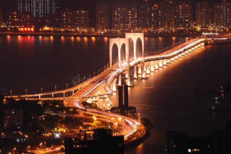 Ορόσημο του Μακάο τη νύχτα στοκ φωτογραφίες