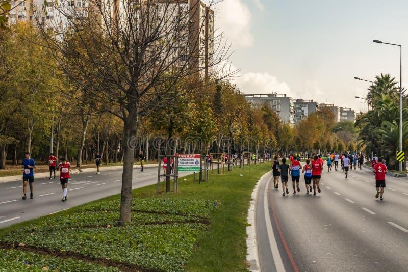 40ος διεθνής μαραθώνιος και αθλητές της Κωνσταντινούπολης στοκ εικόνα