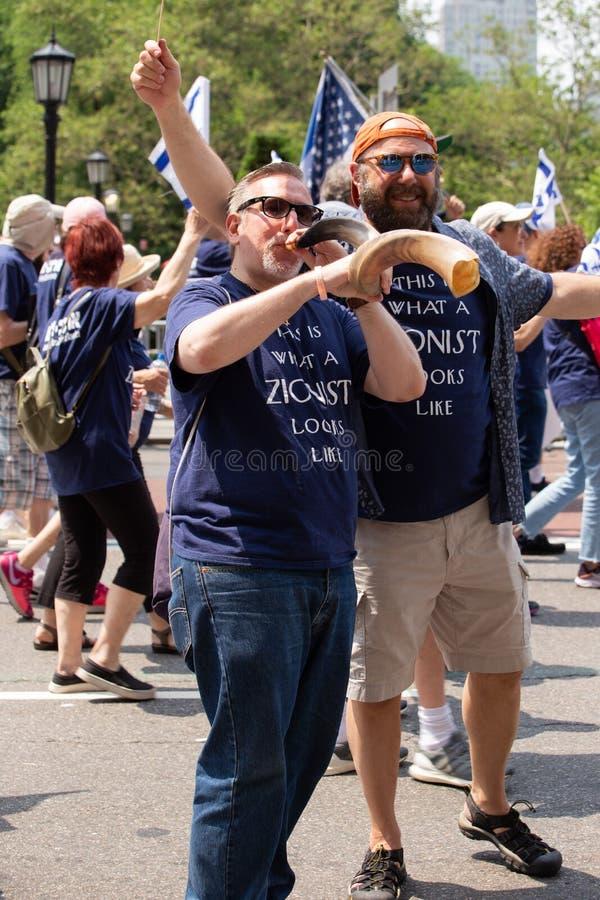 """55ος ετήσιος """"γιορτάζει την ισραηλινή """"παρέλαση στην πόλη της Νέας Υόρκης στοκ εικόνες με δικαίωμα ελεύθερης χρήσης"""