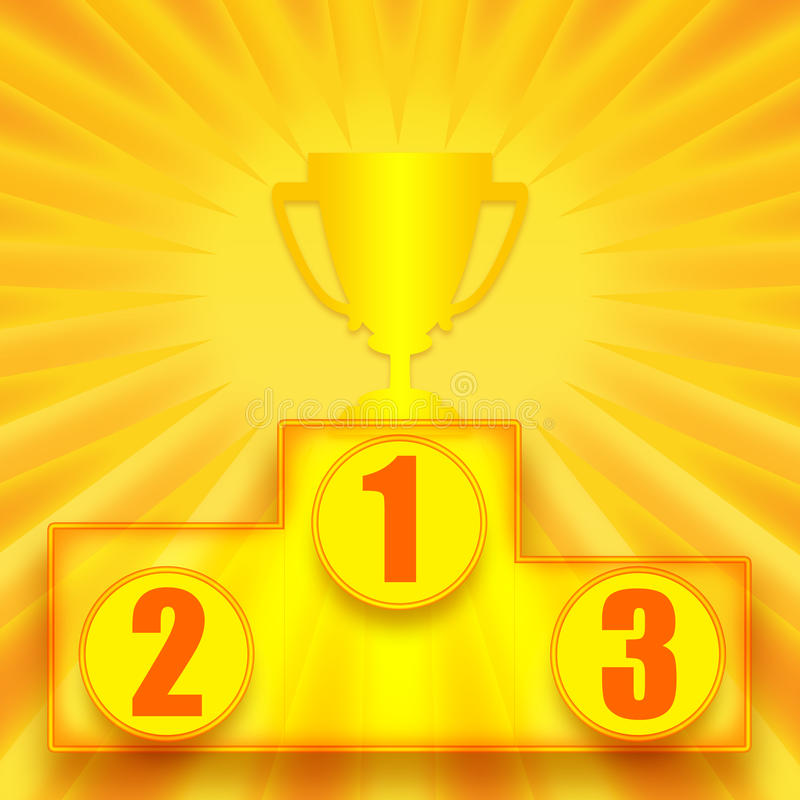 1$ος νικητής θέσεων διανυσματική απεικόνιση