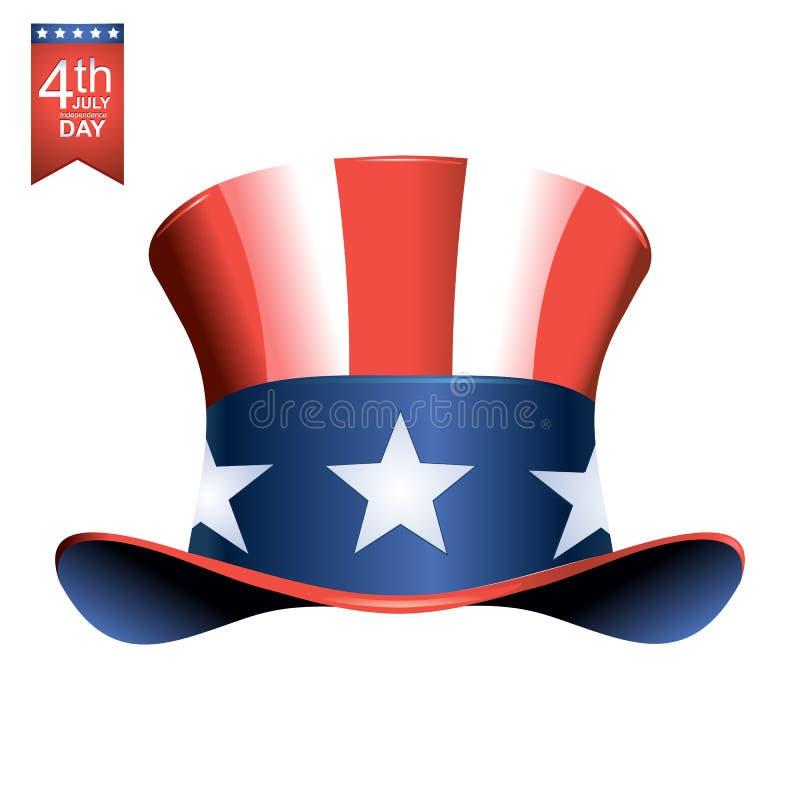 4ος της αμερικανικής απεικόνισης ημέρας της ανεξαρτησίας Ιουλίου διανυσματική απεικόνιση