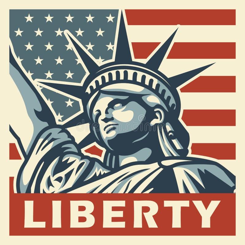 4ος της εκλεκτής ποιότητας αφίσας Ιουλίου ελεύθερη απεικόνιση δικαιώματος