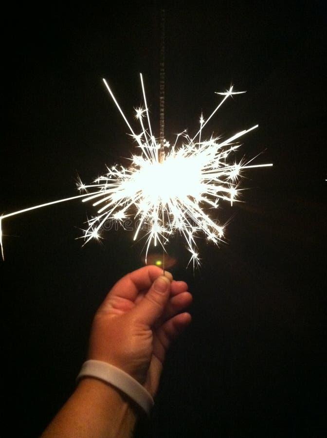 4ος της εκμετάλλευσης Ιουλίου sparkler στοκ φωτογραφίες