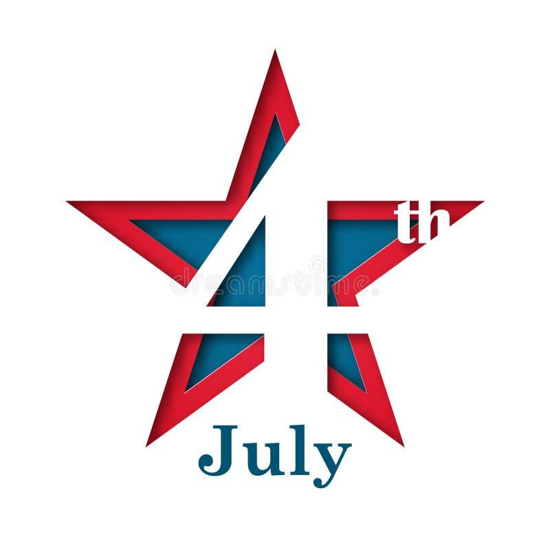4ος της ημέρα της ανεξαρτησίαςης Ιουλίου, ΑΜΕΡΙΚΑΝΙΚΗ απεικόνιση αποθεμάτων