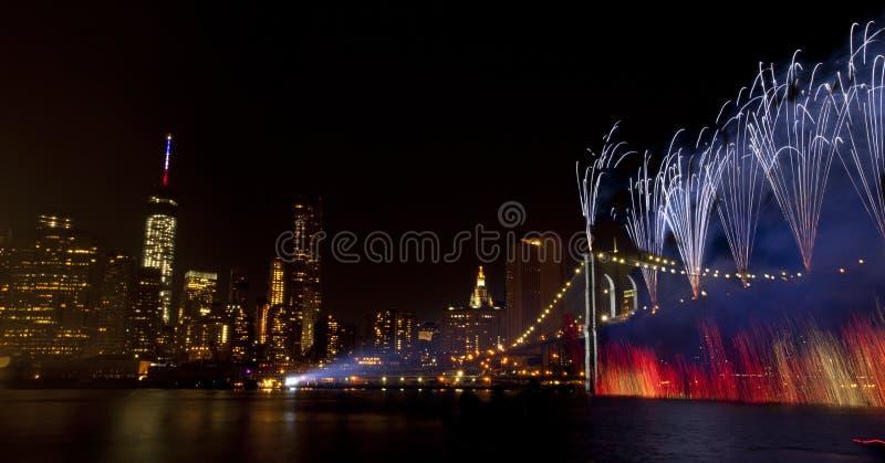 4ος της πόλης της Νέας Υόρκης εορτασμού Ιουλίου (2014) στοκ εικόνες
