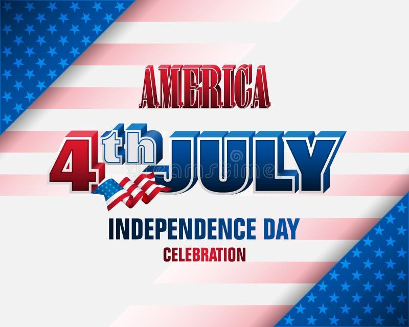 4ος της Uης Ιουλίου, S Εορτασμός ημέρας της ανεξαρτησίας διανυσματική απεικόνιση
