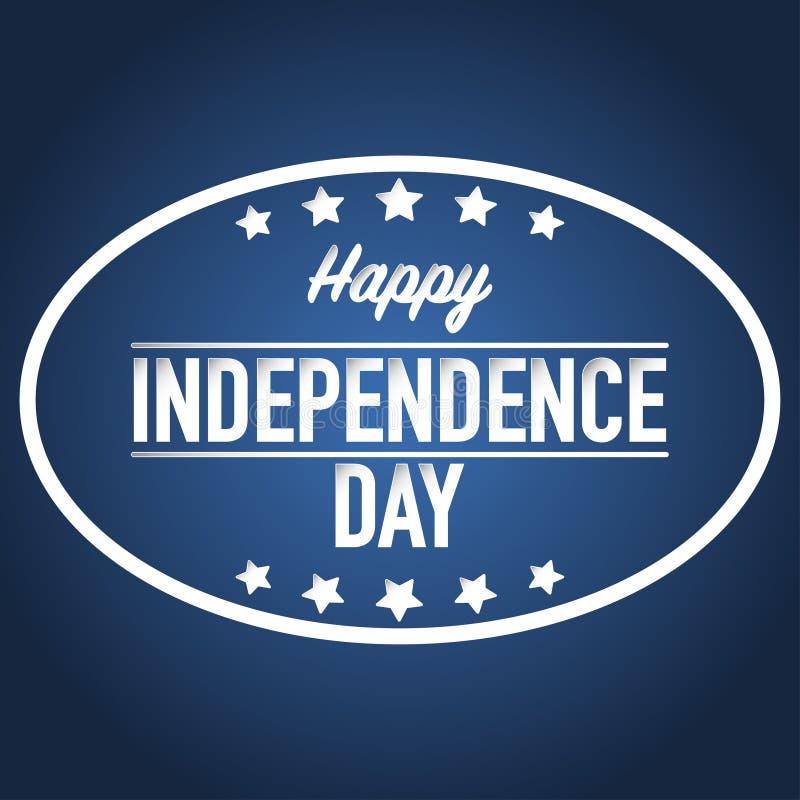 4ος του διανύσματος εμβλημάτων ημέρας της ανεξαρτησίας Ιουλίου ελεύθερη απεικόνιση δικαιώματος