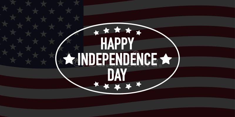 4ος του διανύσματος εμβλημάτων ημέρας της ανεξαρτησίας Ιουλίου διανυσματική απεικόνιση