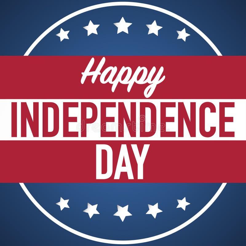 4ος του διανύσματος εμβλημάτων ημέρας της ανεξαρτησίας Ιουλίου απεικόνιση αποθεμάτων