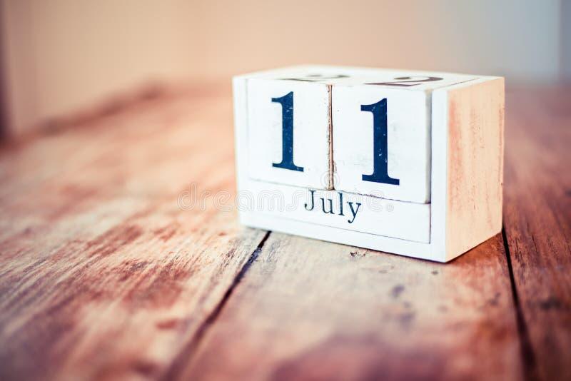 11ος του Ιουλίου - 11 Ιουλίου - εθνική ευθυμία επάνω η μόνη ημέρα Εθνική πιό βροχερή ημέρα κερασιών Εθνική Muffin βακκινίων ημέρα στοκ εικόνες