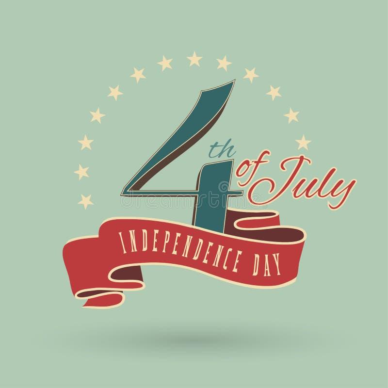 4ος του Ιουλίου ελεύθερη απεικόνιση δικαιώματος