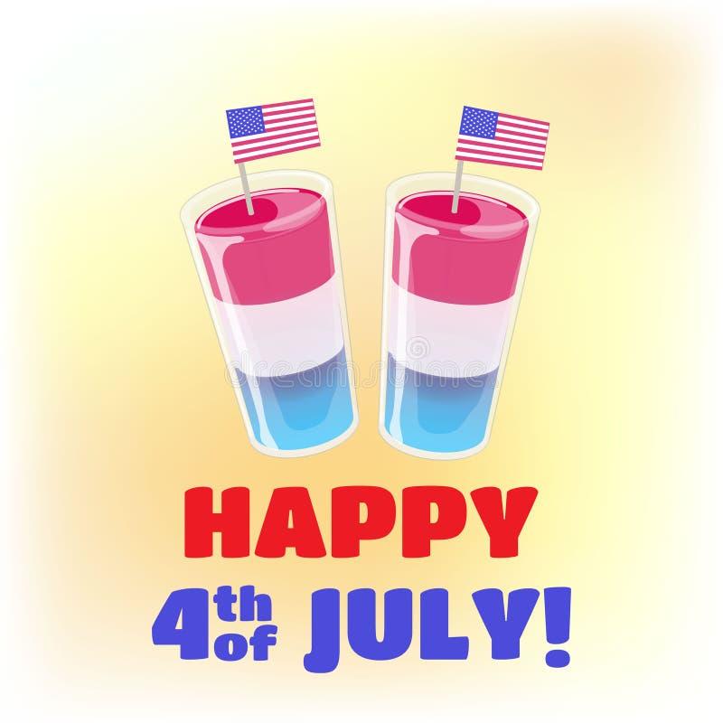 4ος του προτύπου εμβλημάτων Ιουλίου Διάνυσμα concepr για τη ημέρα της ανεξαρτησίας διανυσματική απεικόνιση