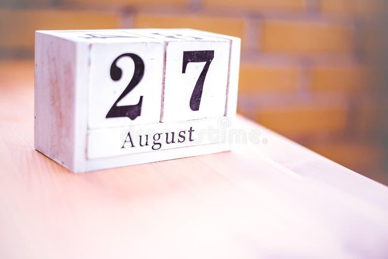 27ος των του Αυγούστου-Αυγούστου 27 - γενέθλια - διεθνής ημέρα - εθνική μέρα στοκ φωτογραφία με δικαίωμα ελεύθερης χρήσης