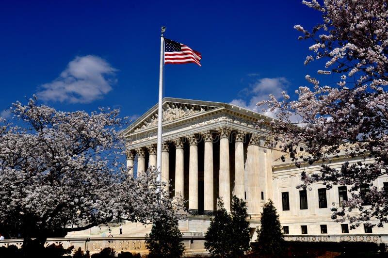 Ουάσιγκτον, συνεχές ρεύμα: ΑΜΕΡΙΚΑΝΙΚΟ ανώτατο δικαστήριο στοκ εικόνες