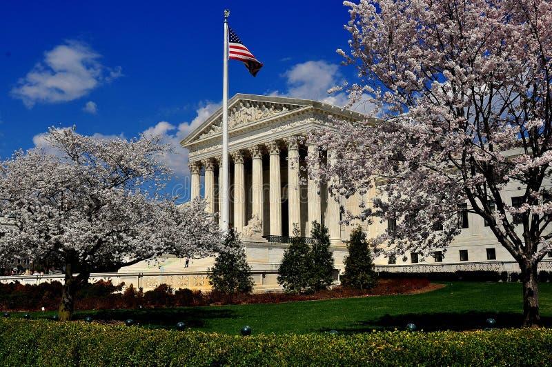 Ουάσιγκτον, συνεχές ρεύμα: Ανώτατο δικαστήριο των Ηνωμένων Πολιτειών στοκ φωτογραφία