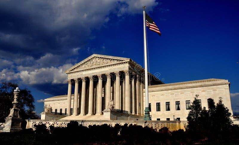 Ουάσιγκτον, συνεχές ρεύμα: Ανώτατο δικαστήριο των Ηνωμένων Πολιτειών στοκ εικόνες