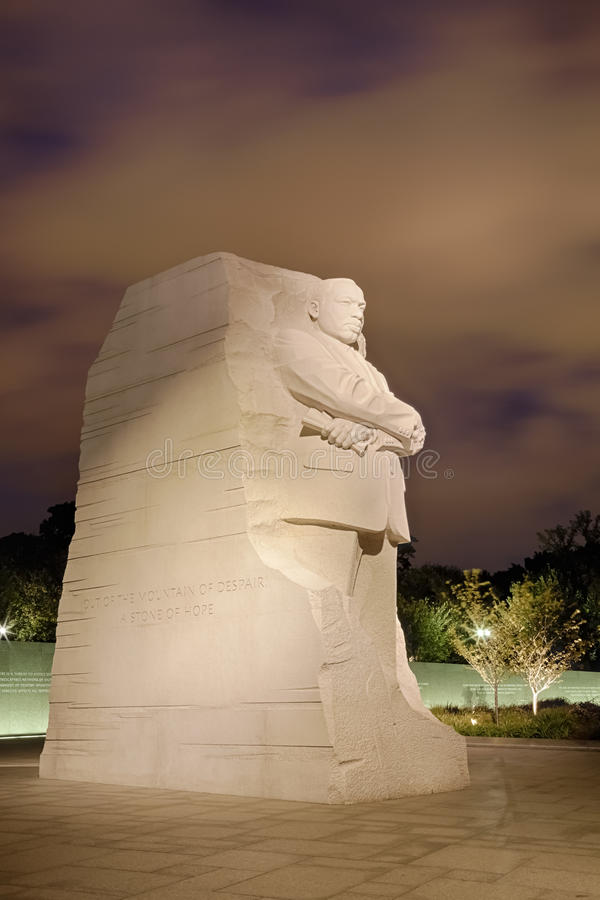 ΟΥΑΣΙΓΚΤΟΝ, συνεχές ρεύμα - μνημείο στο Δρ Martin Luther King στοκ εικόνες με δικαίωμα ελεύθερης χρήσης