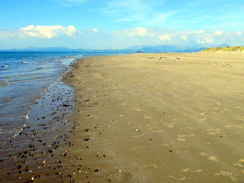 Ουαλλέζικη ακτή σε Gwynedd στοκ φωτογραφίες