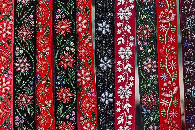 Ουγγρικές ζώνες, που χρωματίζονται και που κεντιούνται στοκ φωτογραφία με δικαίωμα ελεύθερης χρήσης