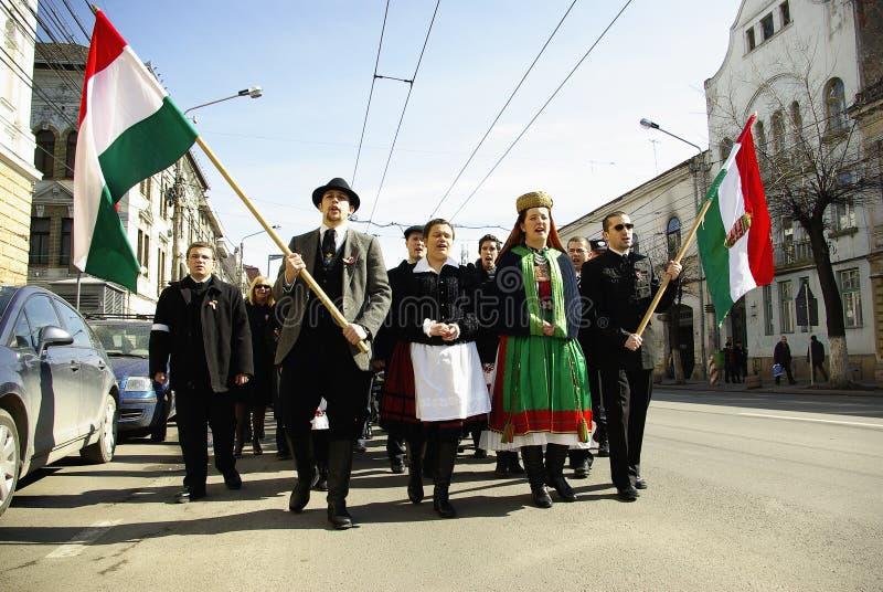 ουγγρική επανάσταση εορτασμού στοκ εικόνες