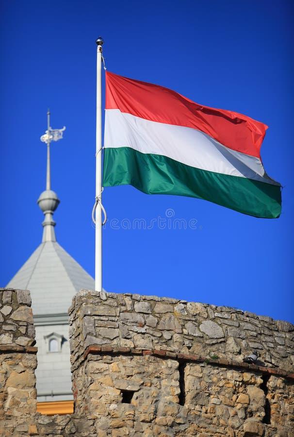 Ουγγρική σημαία στοκ εικόνες με δικαίωμα ελεύθερης χρήσης
