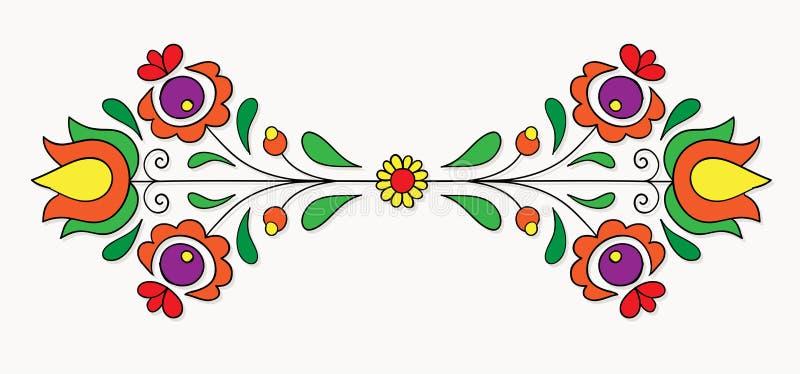 Ουγγρικό λαϊκό μοτίβο διανυσματική απεικόνιση