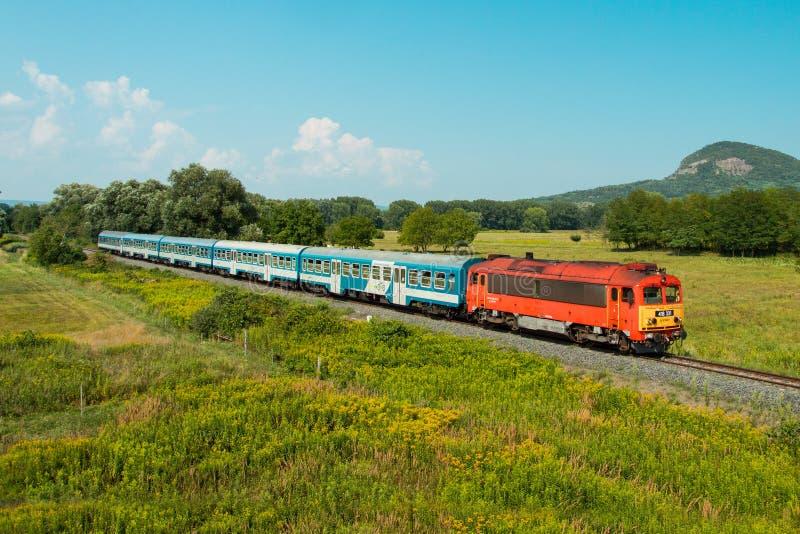 Ουγγρικό τραίνο passanger στοκ φωτογραφία με δικαίωμα ελεύθερης χρήσης