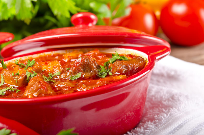 Ουγγρικό goulash στοκ εικόνα