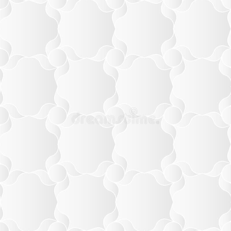 Ουδέτερη άσπρη σύσταση Arabesque στοκ εικόνα