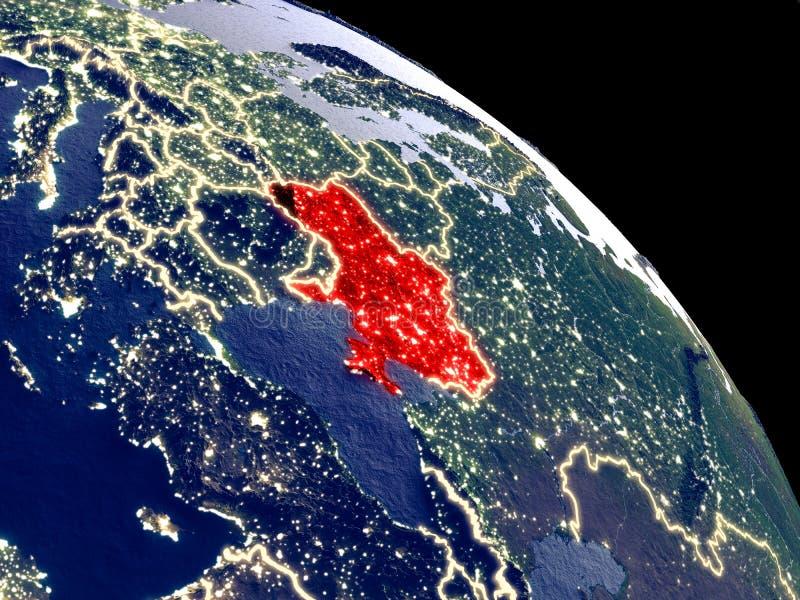 Ουκρανία από το διάστημα ελεύθερη απεικόνιση δικαιώματος