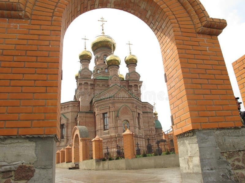 Ουκρανία Κίεβο Ιερή Μονή Παρεμβολής, ερήμους Goloseevskaya στοκ εικόνα