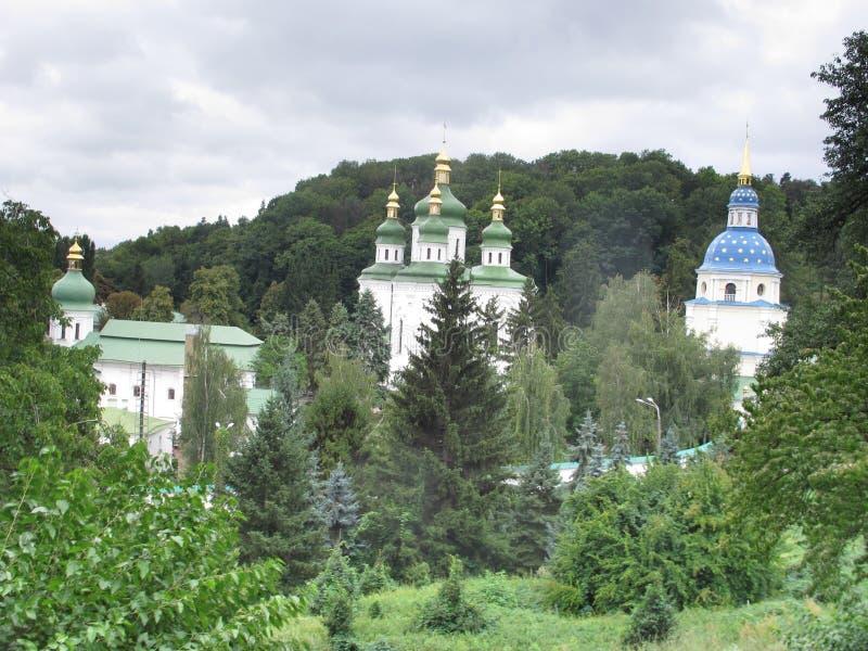 Ουκρανία Κίεβο Μοναστήρι Βυντούμπτσι Στις όχθες του Dnieper στοκ φωτογραφία με δικαίωμα ελεύθερης χρήσης
