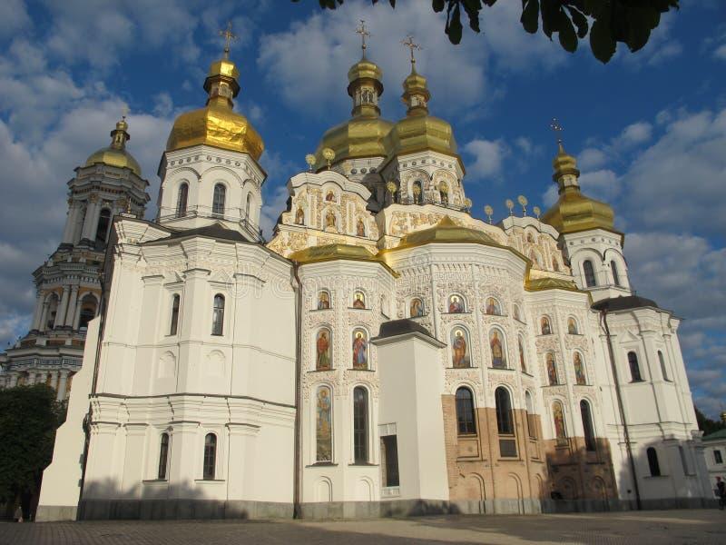 Ουκρανία Κίεβο Κίεβο-Πετχέρσκ Λάβρα Η ανατολική πρόσοψη του καθεδρικού ναού της Ανάληψης στοκ εικόνες με δικαίωμα ελεύθερης χρήσης