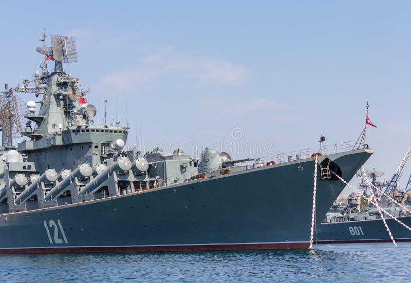 Ουκρανία, Σεβαστούπολη - 2 Σεπτεμβρίου 2011: Η ναυαρχίδα του RU στοκ φωτογραφίες με δικαίωμα ελεύθερης χρήσης