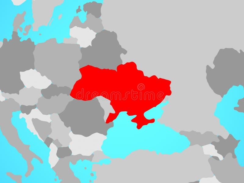 Ουκρανία στο χάρτη ελεύθερη απεικόνιση δικαιώματος